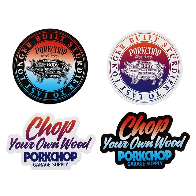 PORKCHOP GARAGE SUPPLY GRADATION STICKER SET