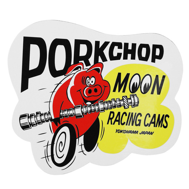 PORKCHOP GARAGE SUPPLY PORK MOON CAMS STICKER