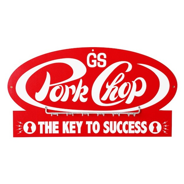 PORKCHOP GARAGE SUPPLY P-Key hook RED