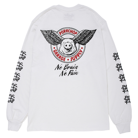 PORKCHOP GARAGE SUPPLY WING PORK L/S TEE