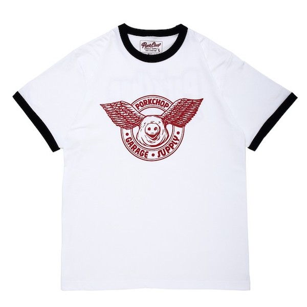 PORKCHOP GURAGE SUPPLY WING PORK RINGER TEE