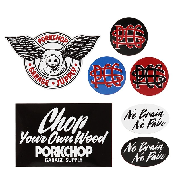 PORKCHOP GARAGE SUPPLY WING PORK STICKER SET