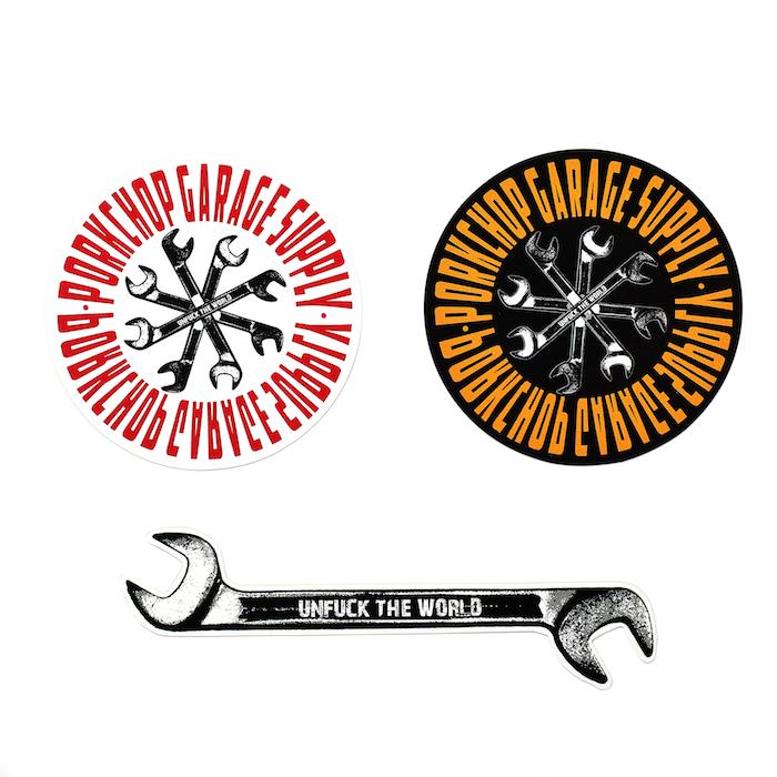 PORKCHOP GARAGE SUPPLY Wrench STICKER SET