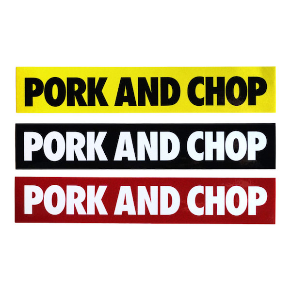 PORKCHOP GARAGE SUPPLY PORK AND CHOP STICKER SET