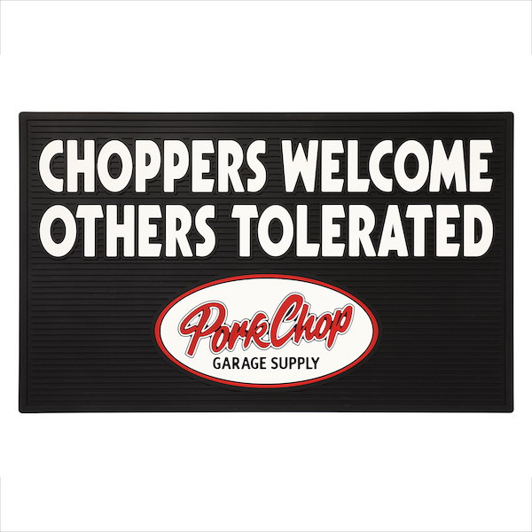 PORKCHOP GARAGE SUPPLY WELCOME RUBBER MAT